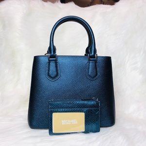7c68962e97a0 Michael Kors Bags - Michael Kors Adele Messenger Midnight Bag TZ Pouch